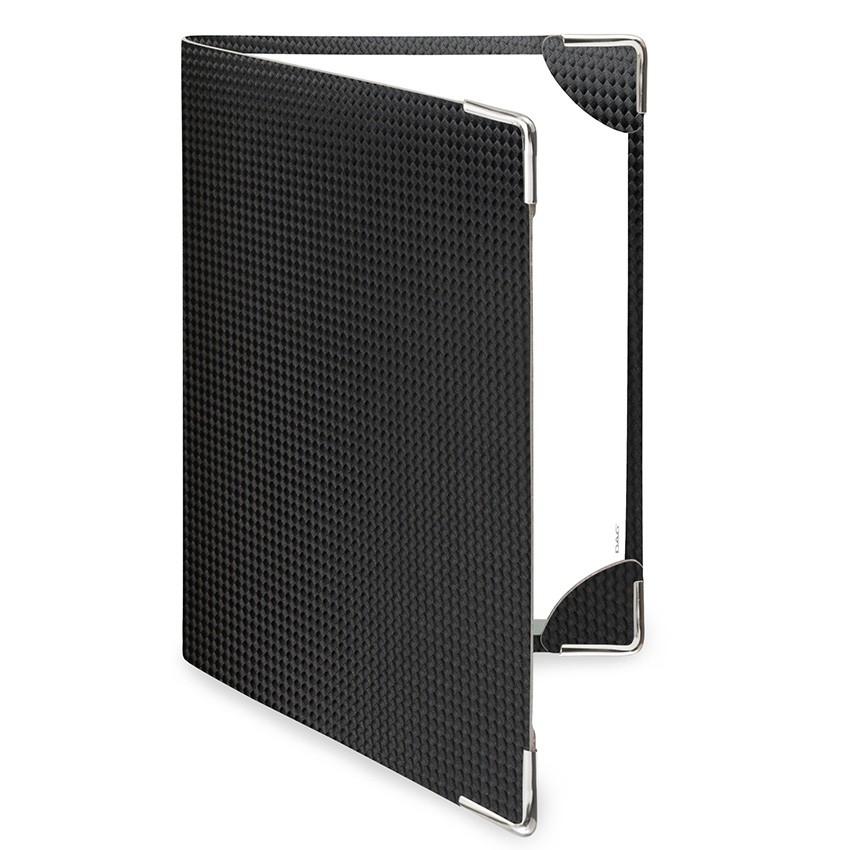 Protège menu DELUXE MenuMenu noir aspect carbon