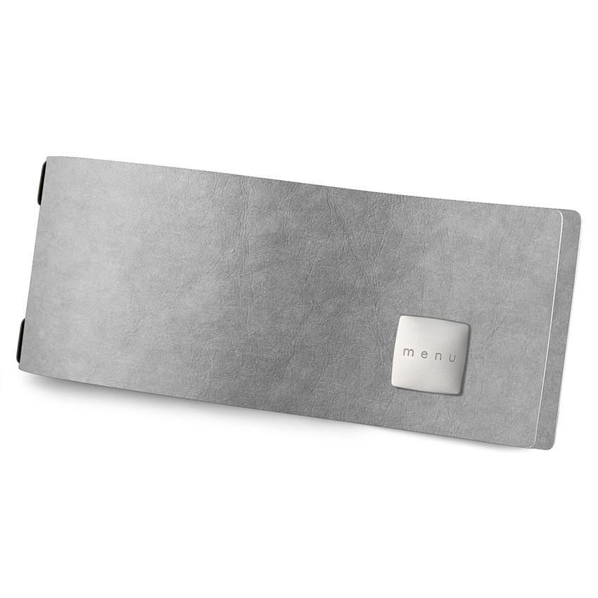 Protège menu CLUB HORIZONTAL Ecologique gris aspect fibre lisse
