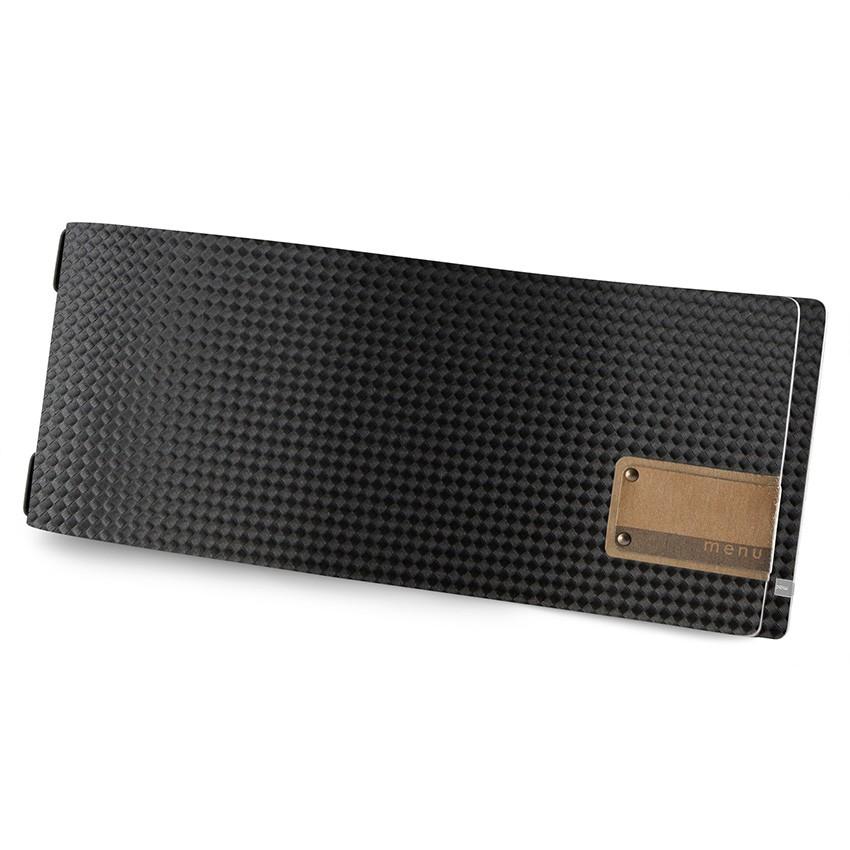 Protège menu CLUB HORIZONTAL MenuMenu noir aspect carbon