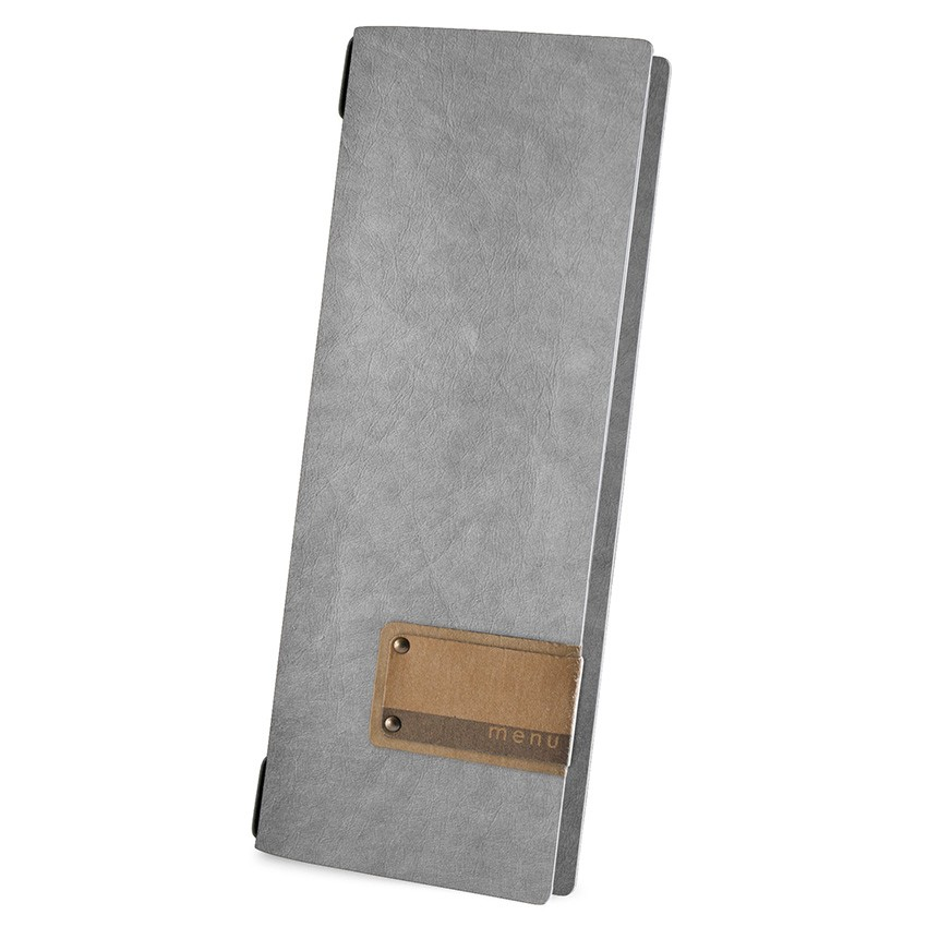 Protège menu CLUB Ecologique gris aspect fibre lisse