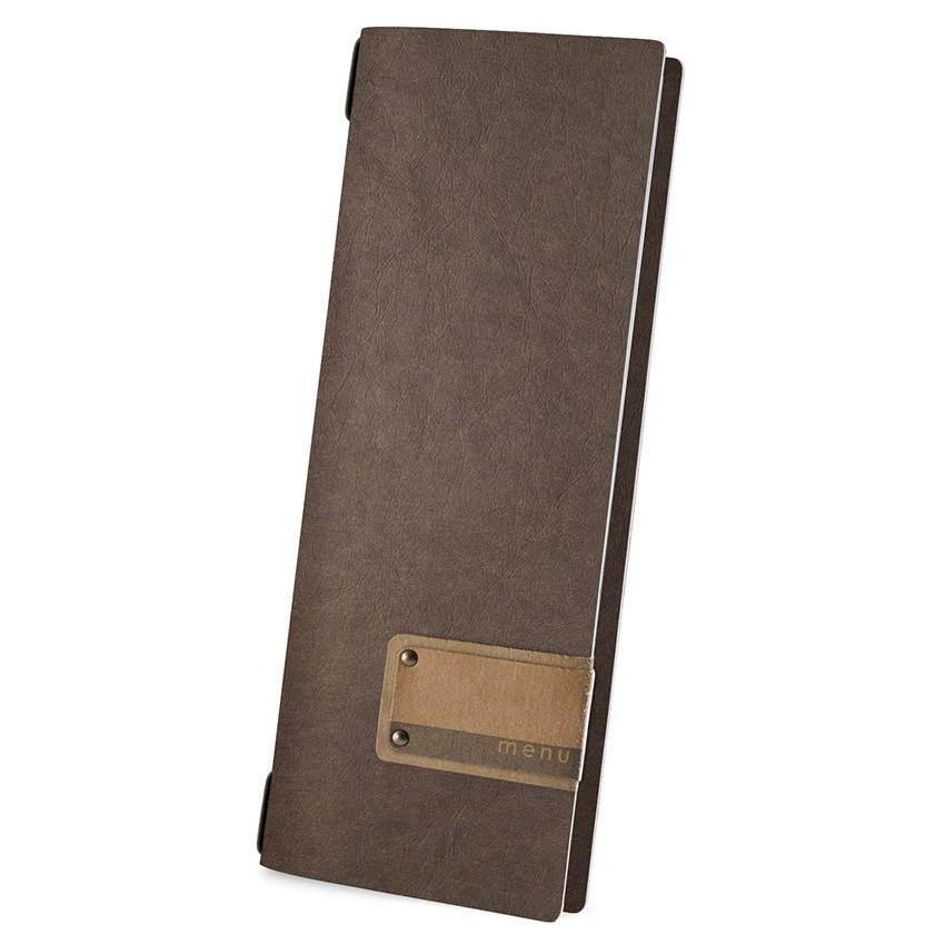Protège menu CLUB Ecologique marron aspect fibre lisse