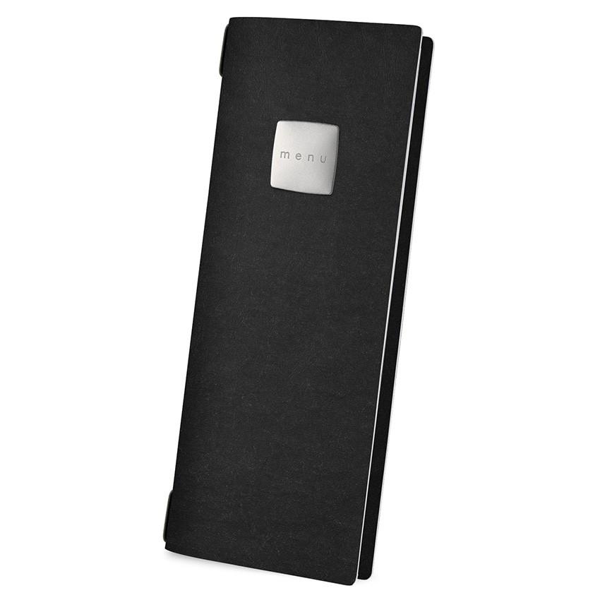 Protège menu CLUB Ecologique noir aspect fibre lisse