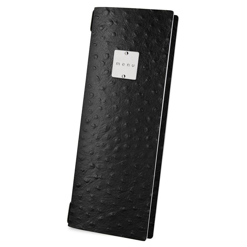 Protège menu CLUB Fashion noir aspect peau d'autruche