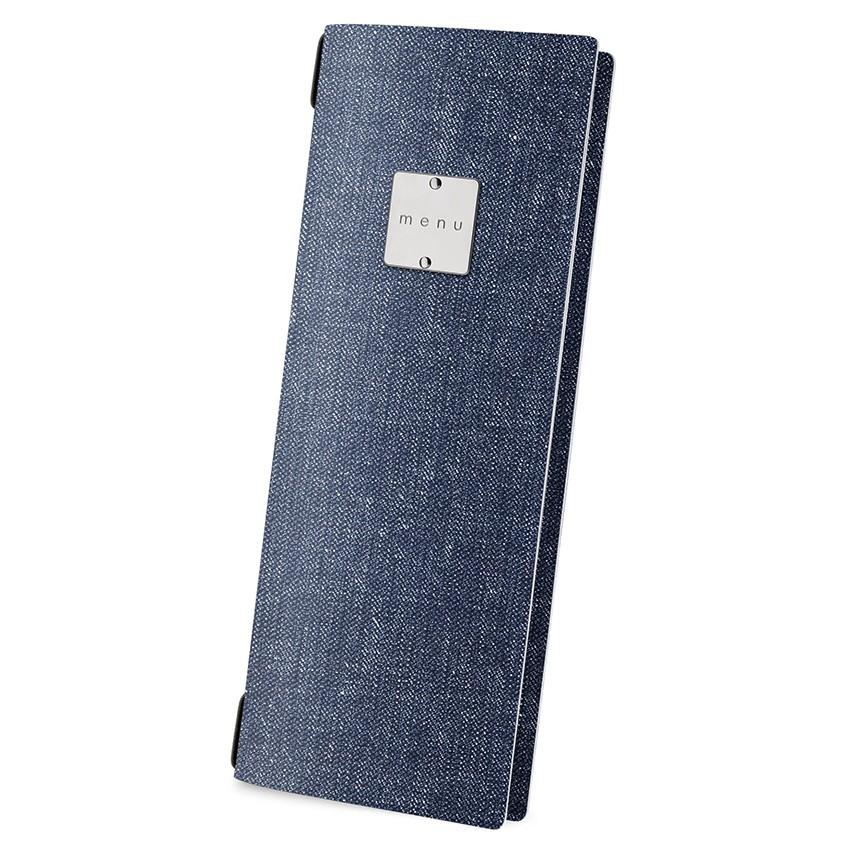 Protège menu CLUB MenuMenu bleu aspect jean's
