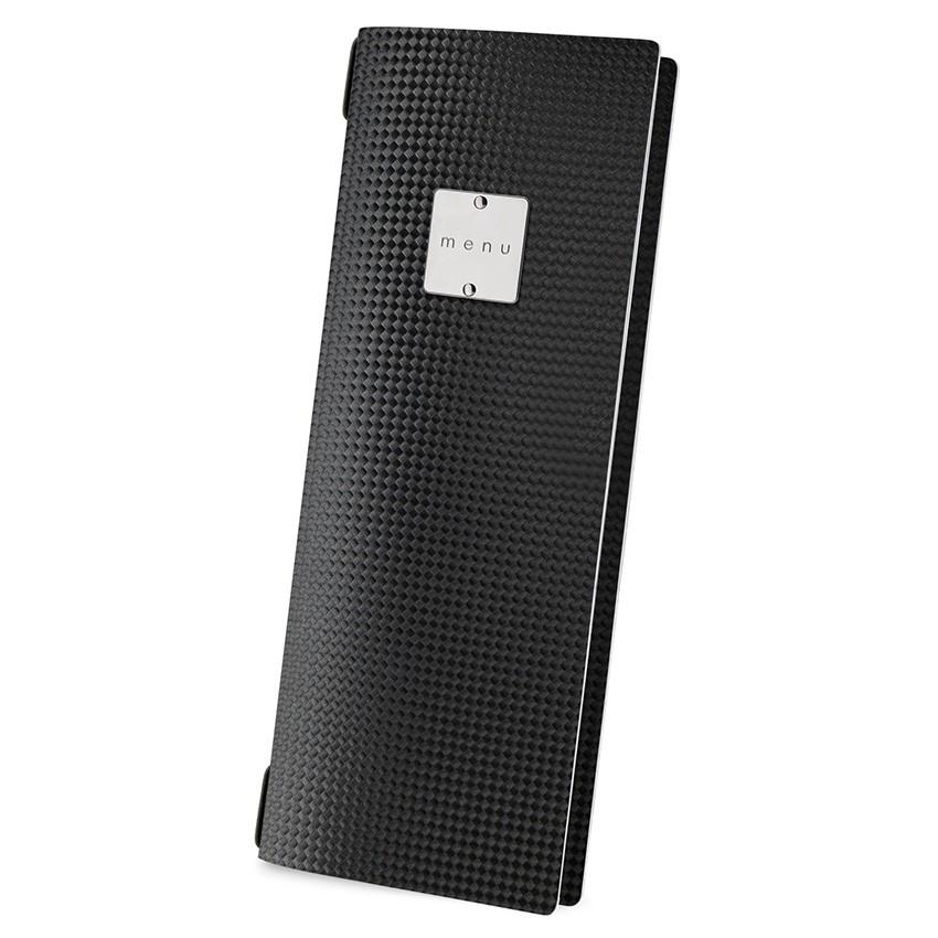 Protège menu CLUB MenuMenu noir aspect carbon