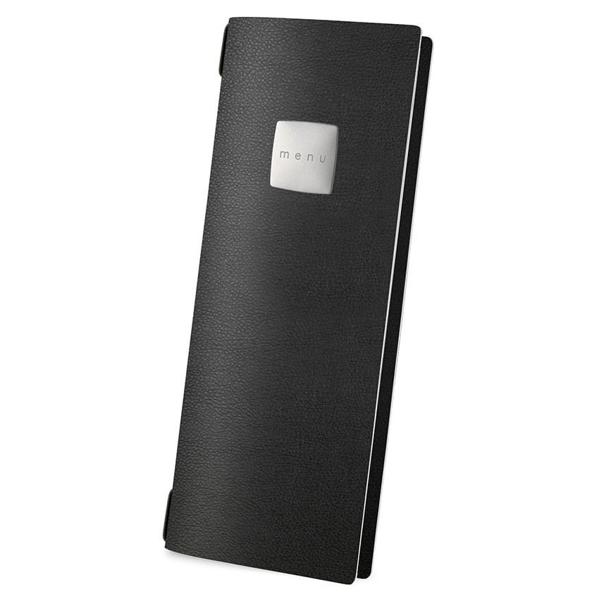 Protège menu CLUB MenuMenu noir aspect lisse