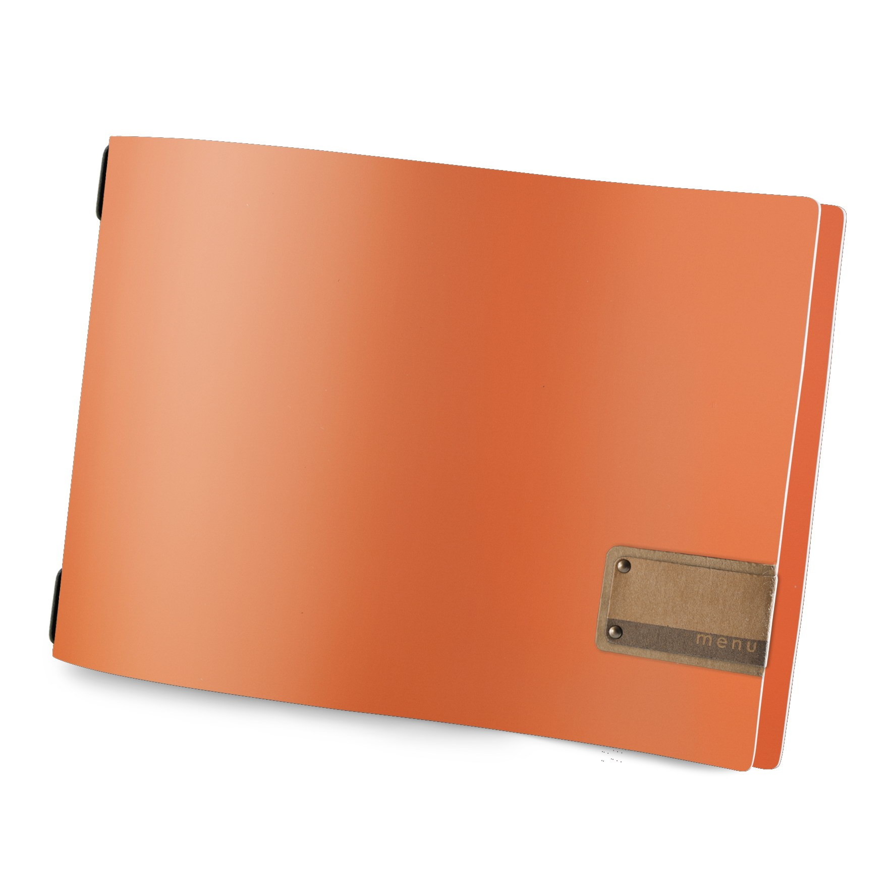 Protège menu A4 HORIZONTAL Fashion orange aspect lisse