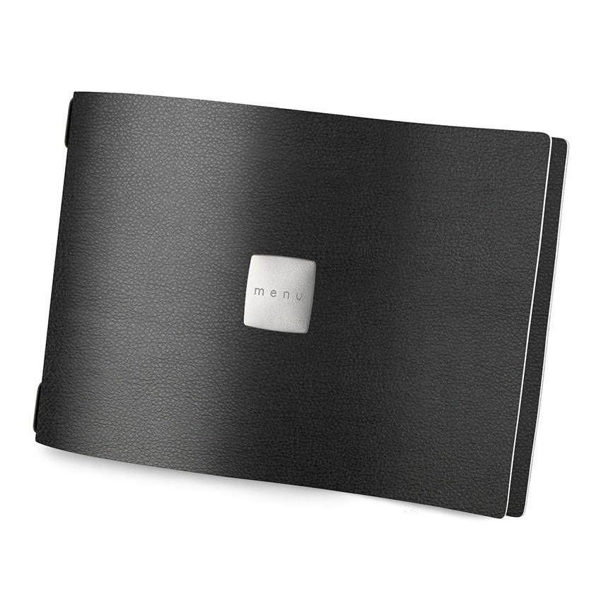 Protège menu A4 HORIZONTAL MenuMenu noir aspect lisse