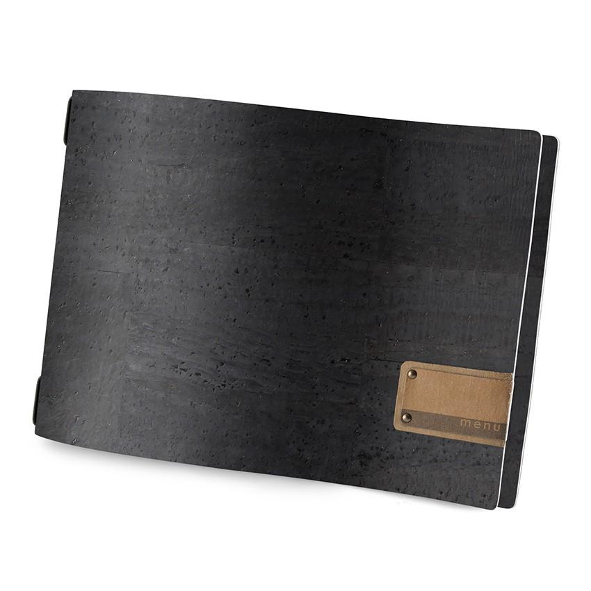 Protège menu A4 HORIZONTAL Sughero noir