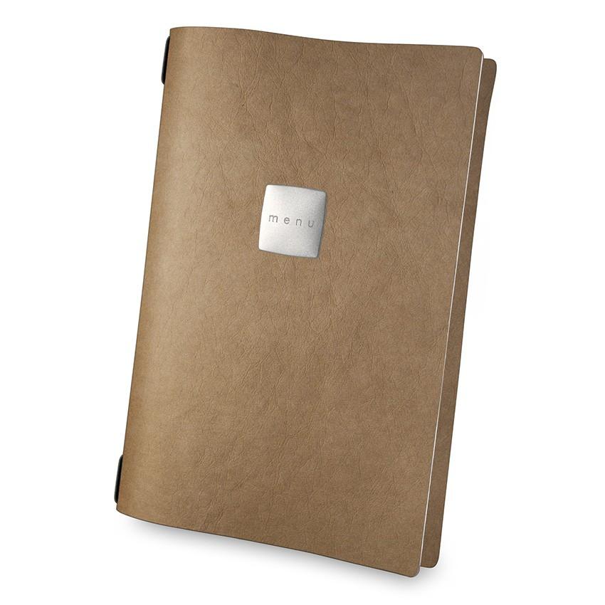 Protège menu A4 Ecologique naturel aspect fibre lisse