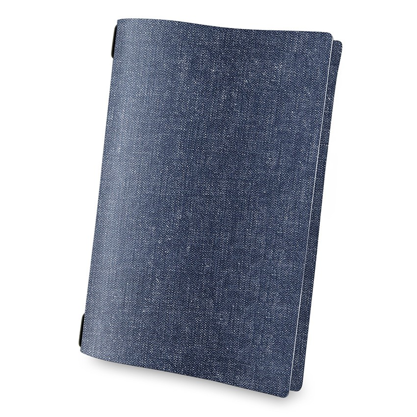 Protège menu A4 MenuMenu bleu aspect jean's