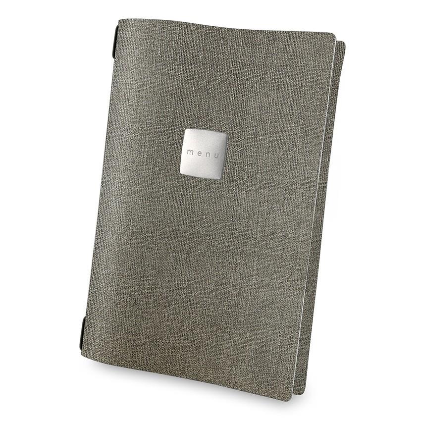 Protège menu A4 MenuMenu gris aspect jute
