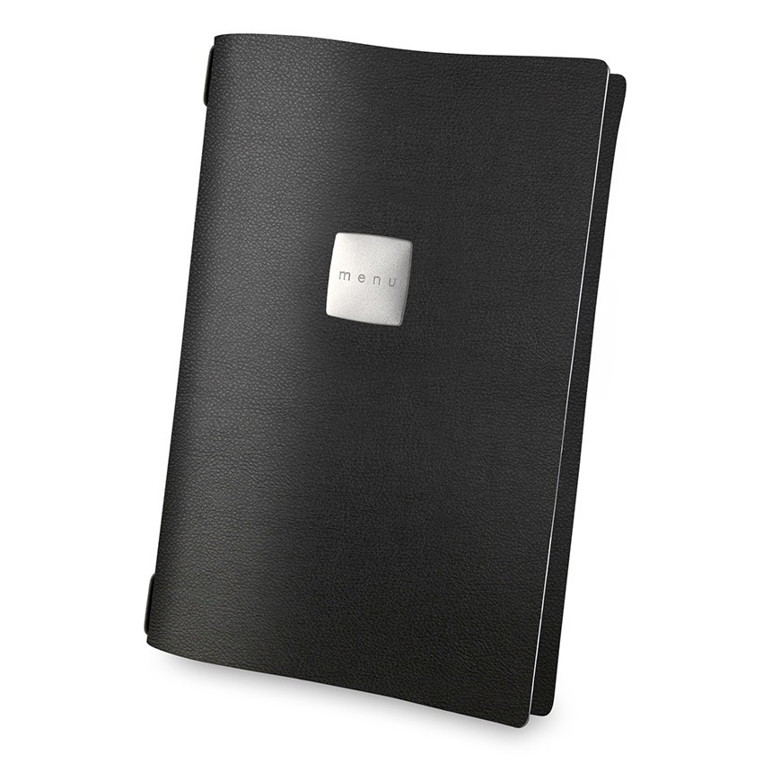 Protège menu A4 MenuMenu noir aspect lisse