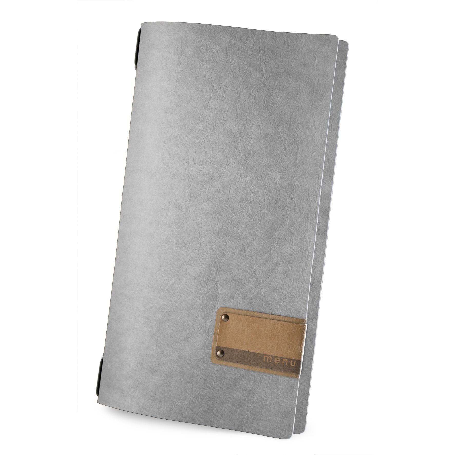Protège menu 4RE Ecologique gris aspect fibre lisse