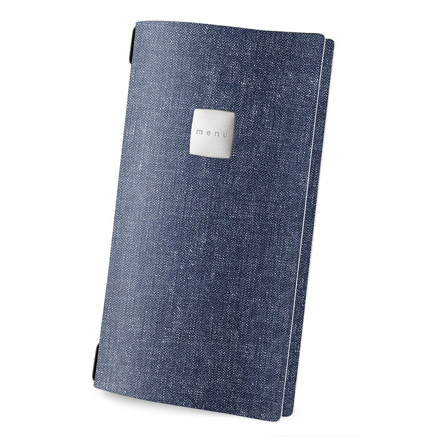 Protège menu 4RE MenuMenu bleu aspect jean's