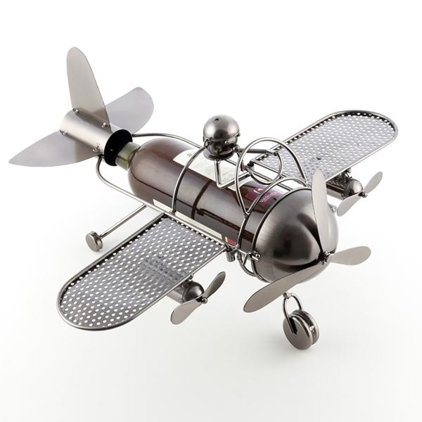 Porte bouteille aviateur en métal