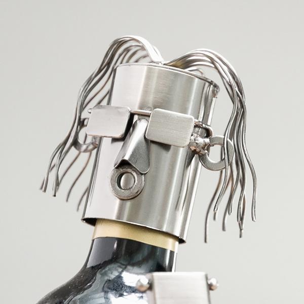 Porte bouteille guitariste en métal