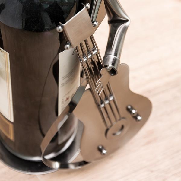 Porte bouteille skieur en métal