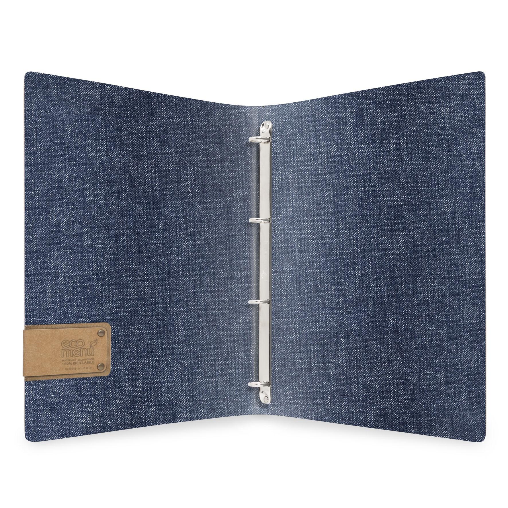 Protège menu MEC MenuMenu bleu aspect jean's