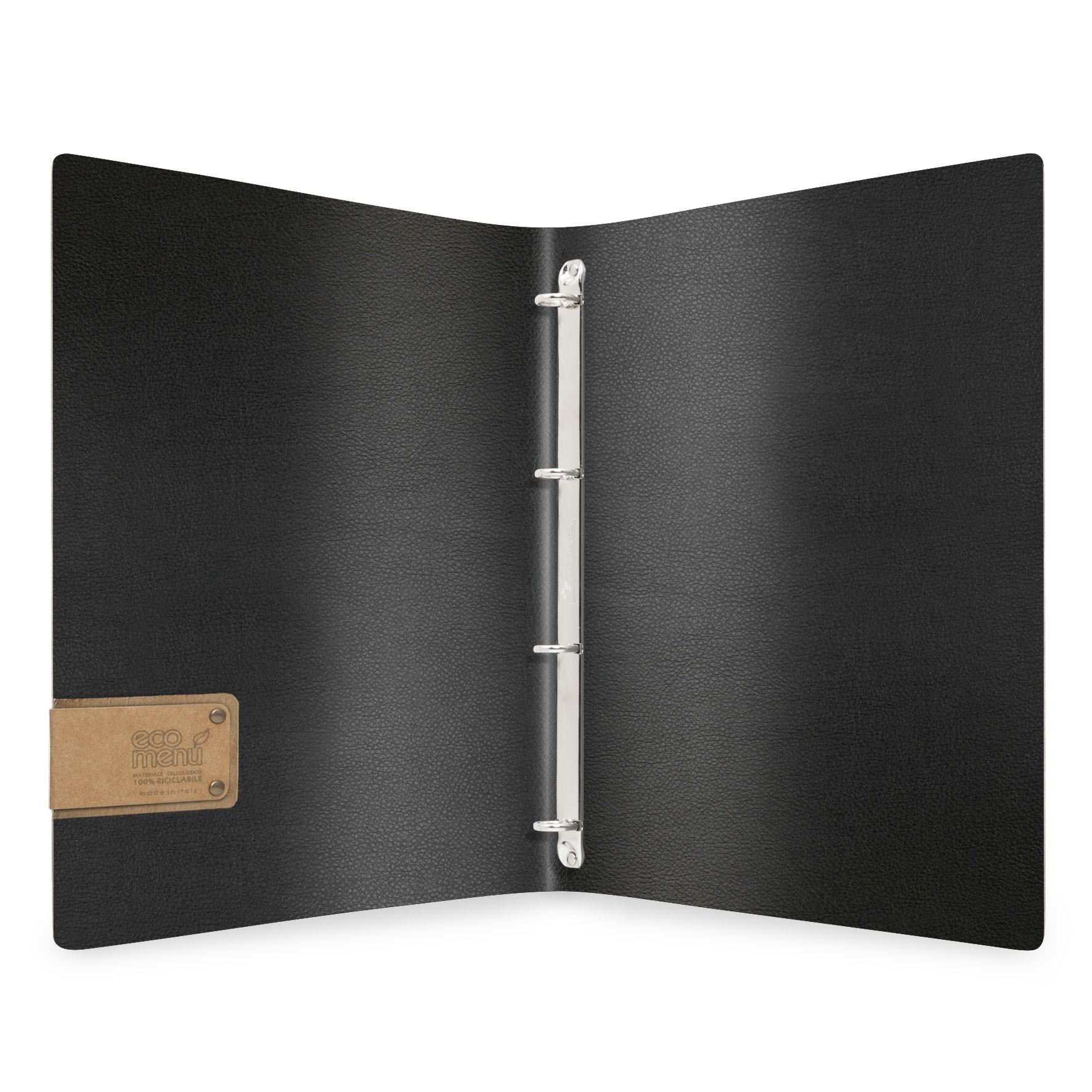 Protège menu MEC MenuMenu noir aspect lisse