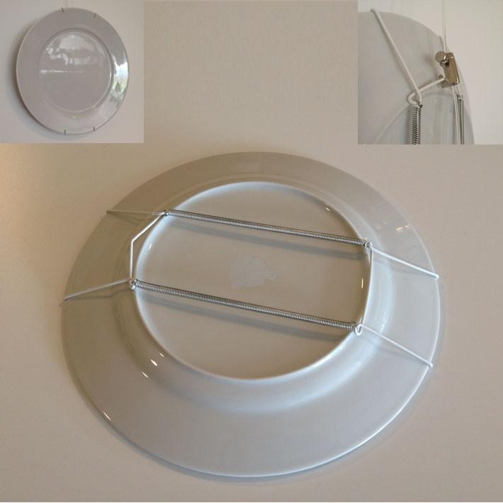 Système d'accroche pour assiette