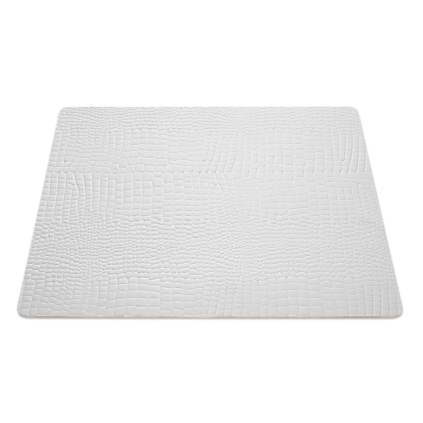 9 Set de table rectangle Fashion blanc aspect crocodile