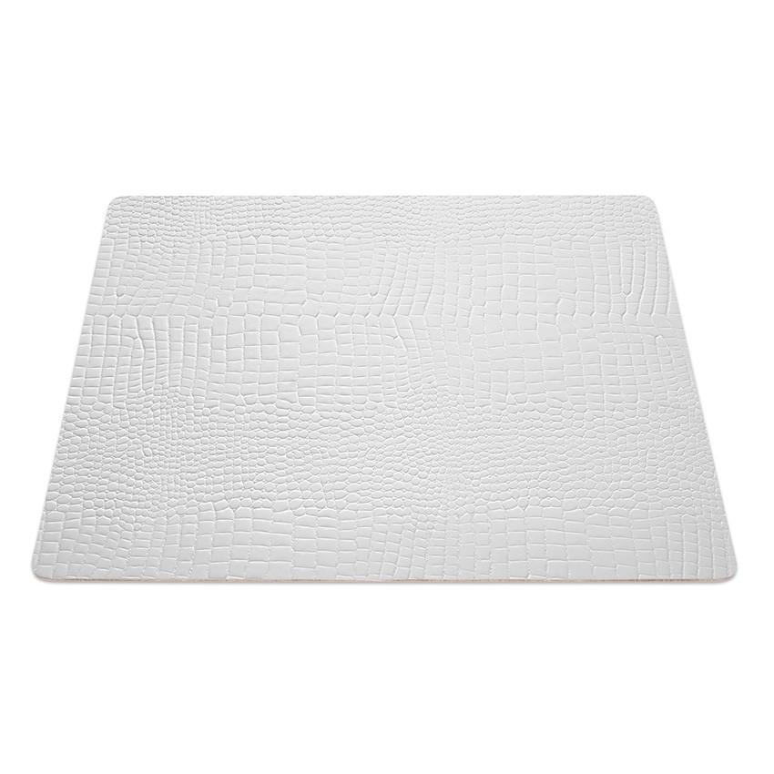 9 Set de table rectangle Fashion blanc aspect crocodile