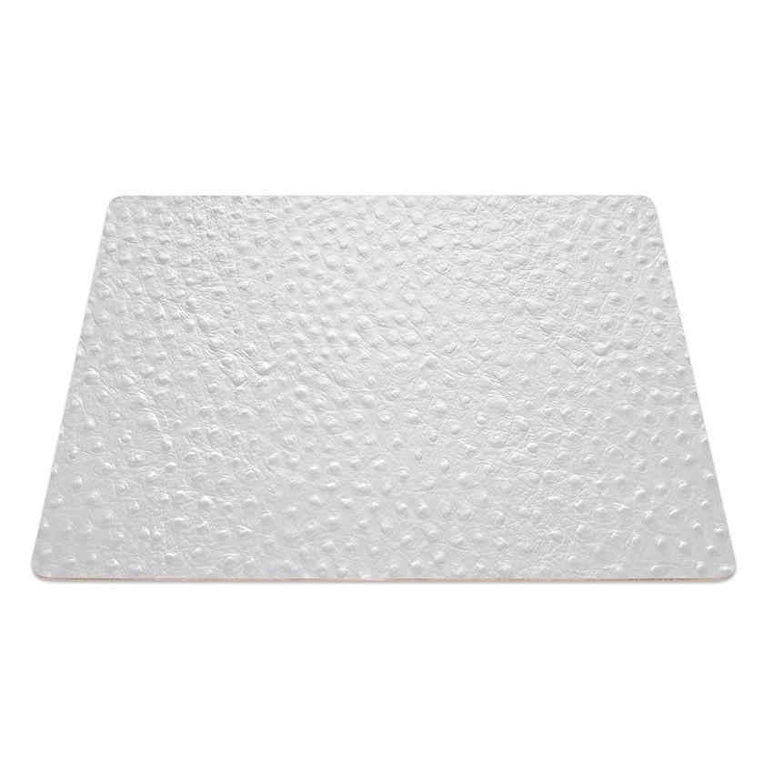 9 Set de table rectangle Fashion blanc aspect peau d'autruche