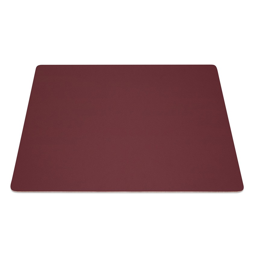 9 Set de table rectangle Fashion bordeaux aspect lisse