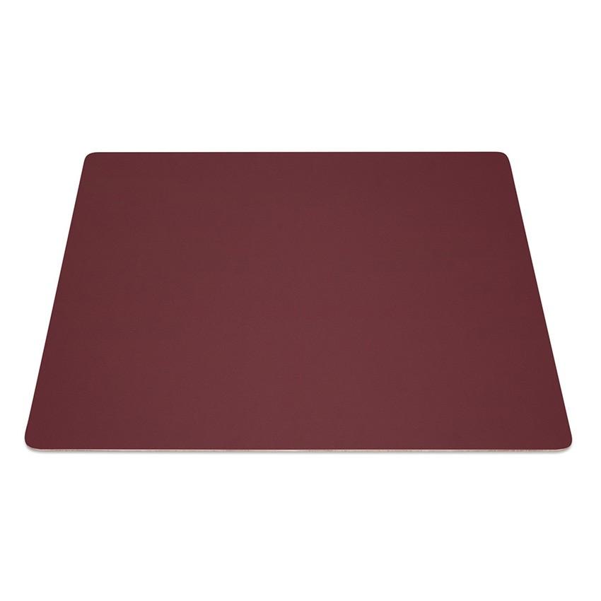 9 Set de table rectangle Fashion bordeaux aspect lisse