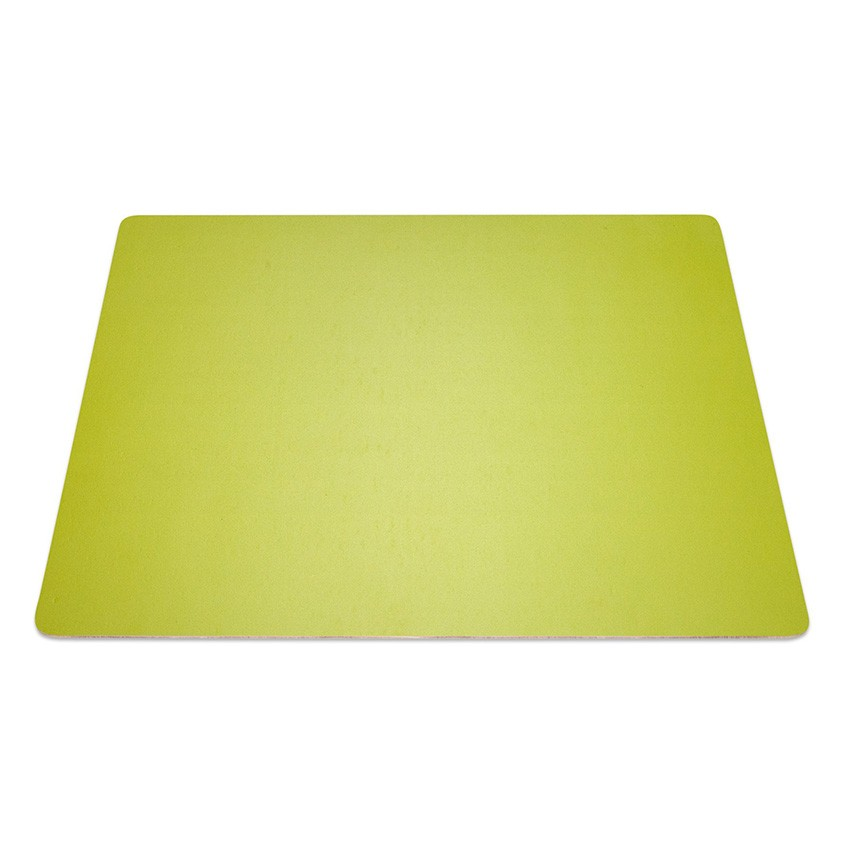 9 Set de table rectangle Fashion citron vert aspect lisse
