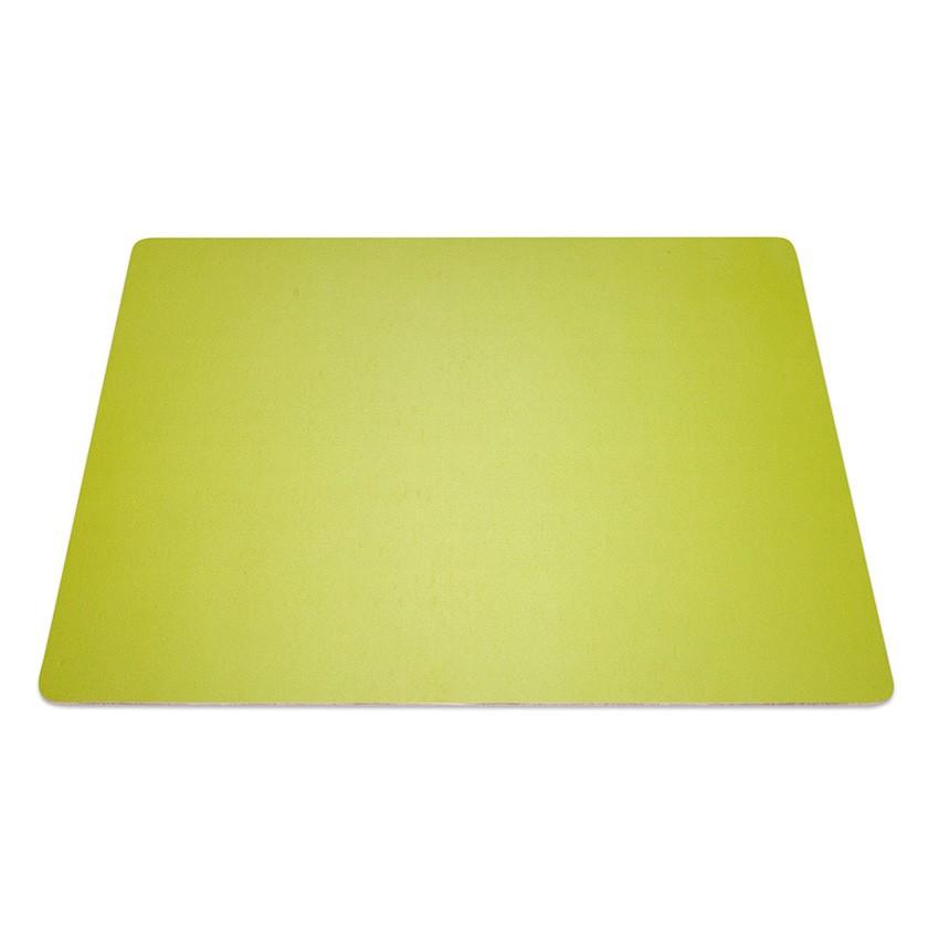 9 Set de table rectangle Fashion citron vert aspect lisse