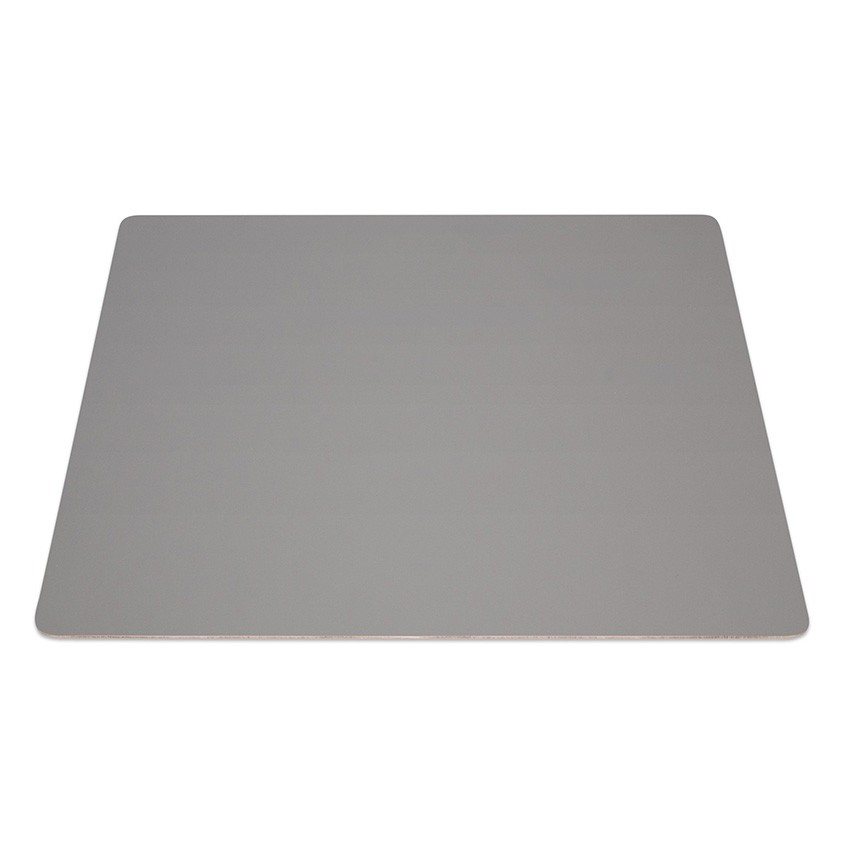 9 Set de table rectangle Fashion gris aspect lisse