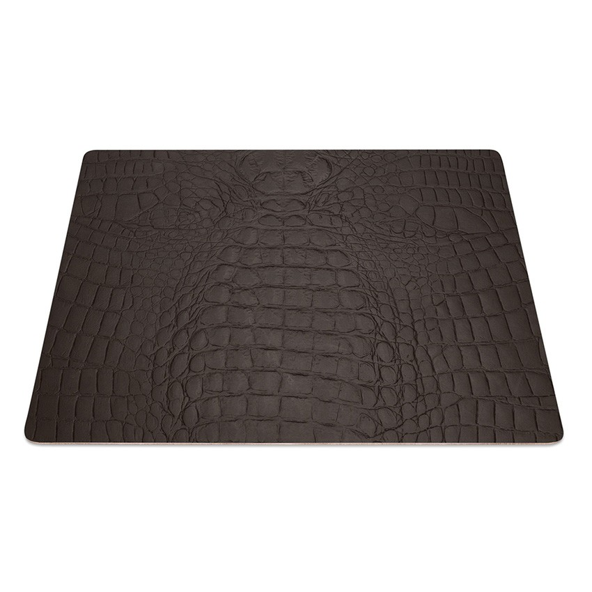 9 Set de table rectangle Fashion marron aspect crocodile
