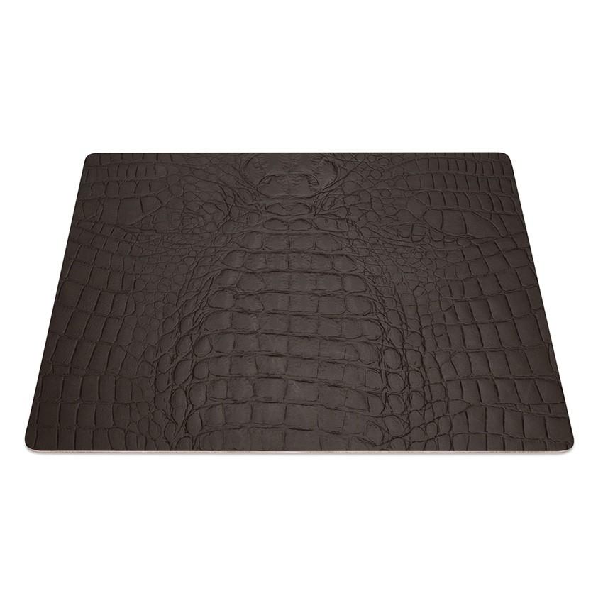 9 Set de table rectangle Fashion marron aspect crocodile