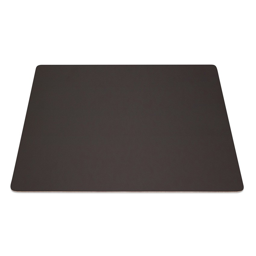 9 Set de table rectangle Fashion marron aspect lisse