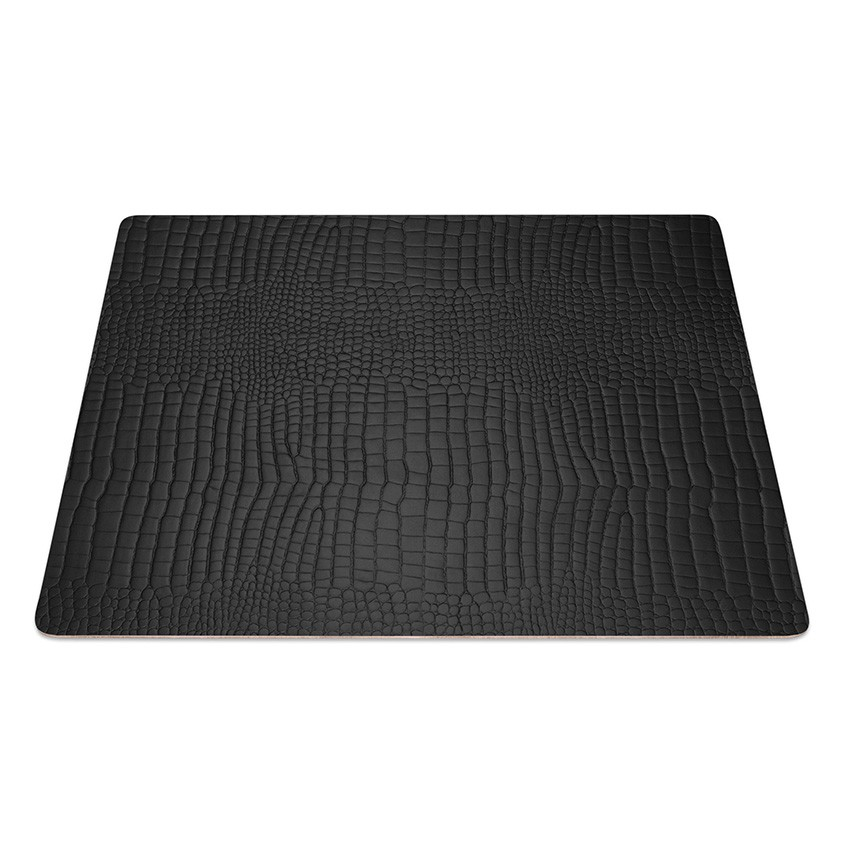 9 Set de table rectangle Fashion noir aspect crocodile