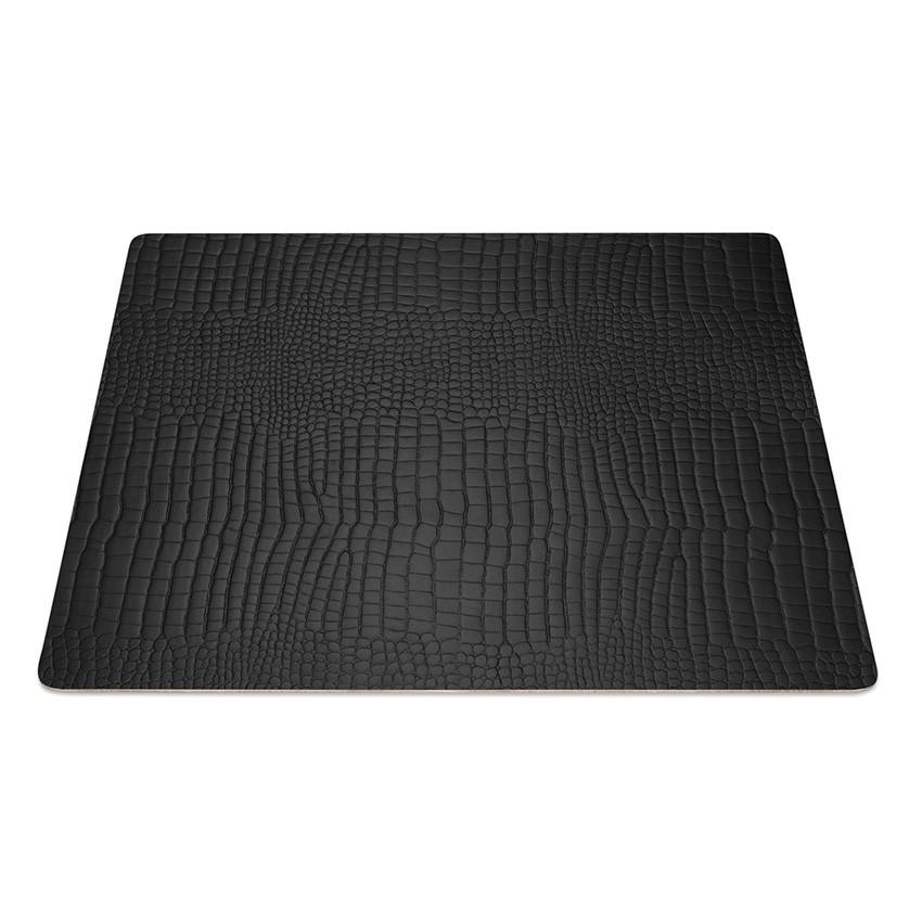 9 Set de table rectangle Fashion noir aspect crocodile