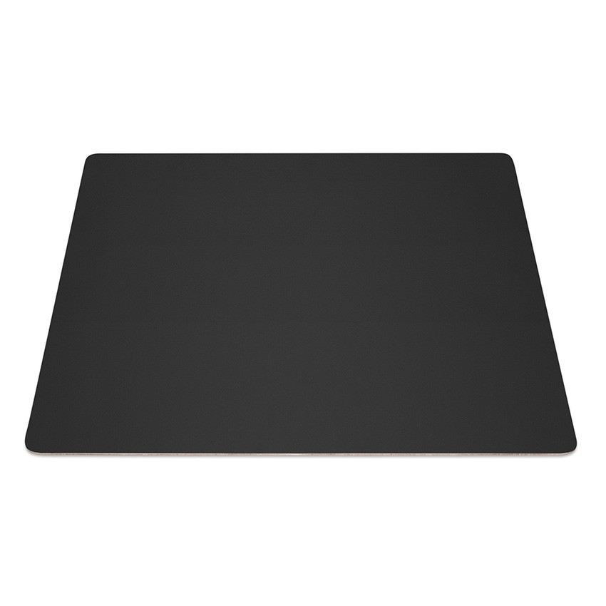 9 Set de table rectangle Fashion noir aspect lisse