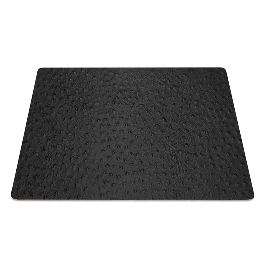 9 Set de table rectangle Fashion noir aspect peau d'autruche