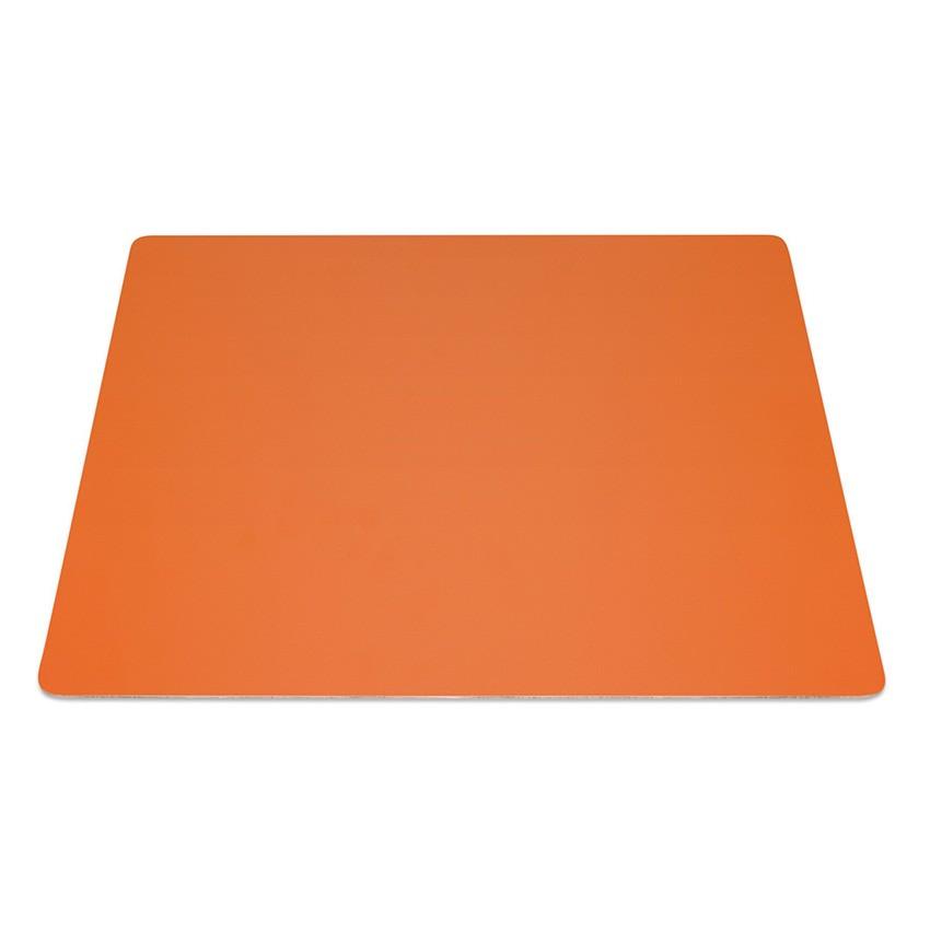 9 Set de table rectangle Fashion orange aspect lisse