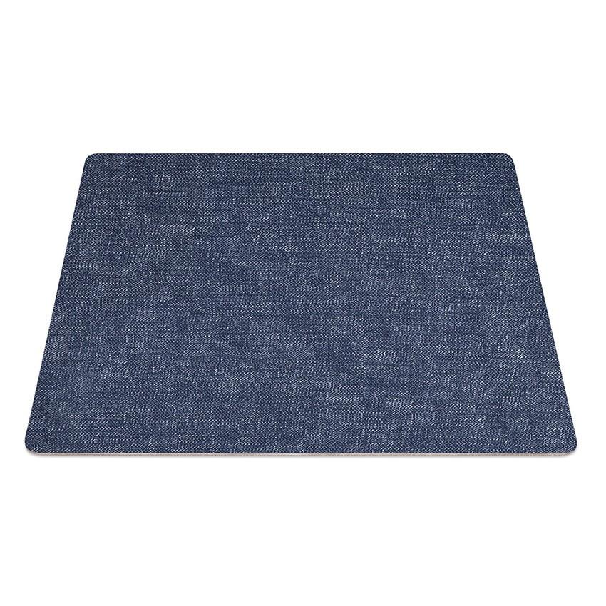 9 Set de table rectangle PVC bleu aspect jean's