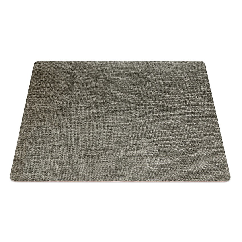 9 Set de table rectangle PVC gris aspect jute