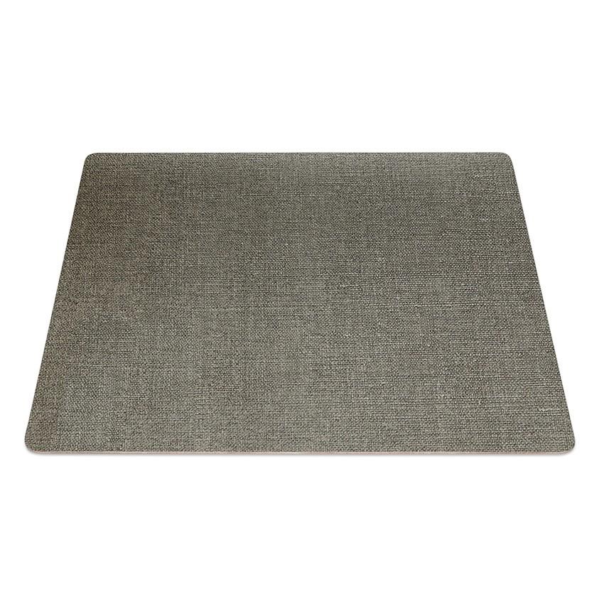 9 Set de table rectangle PVC gris aspect jute