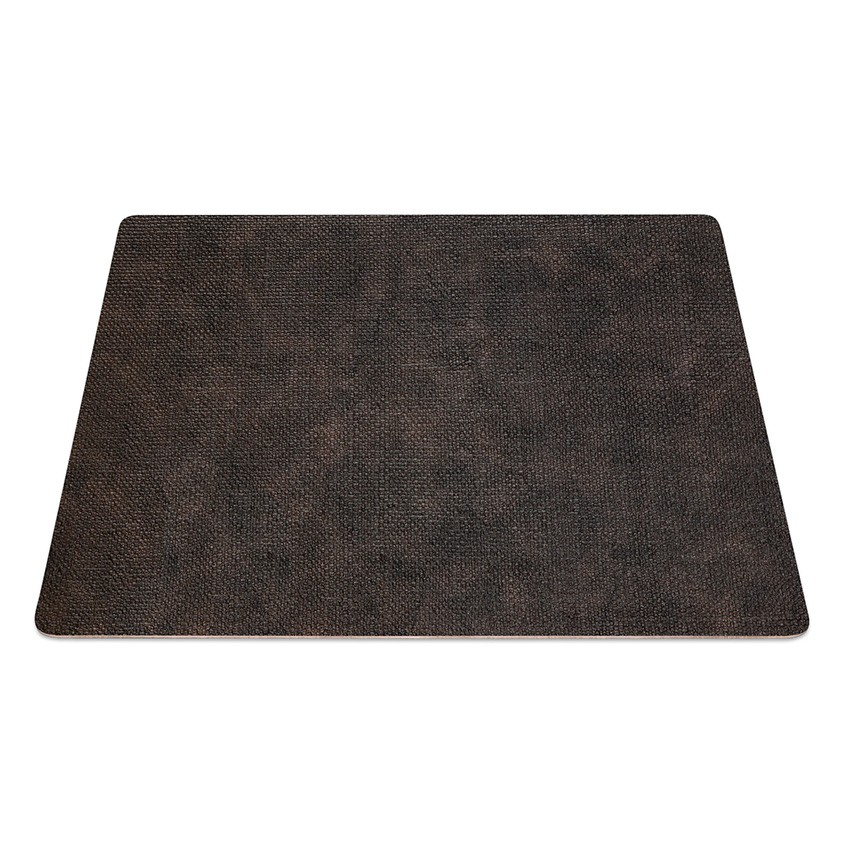 9 Set de table rectangle PVC Marron aspect jute