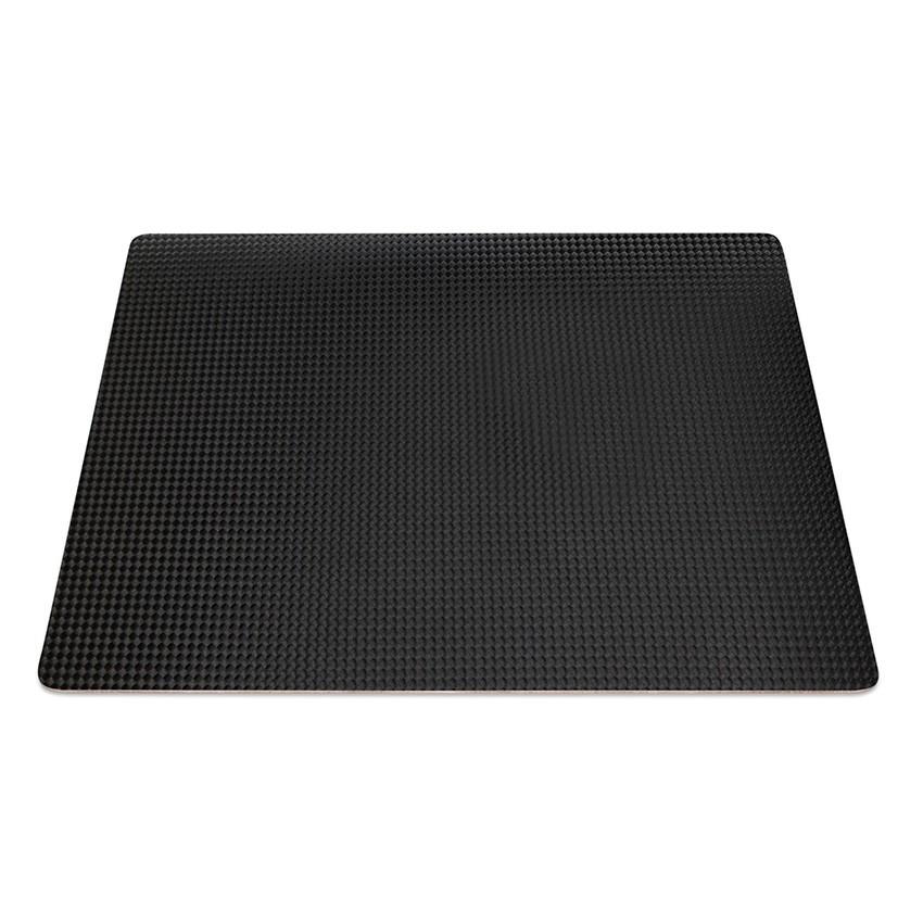 9 Set de table rectangle PVC noir aspect carbon