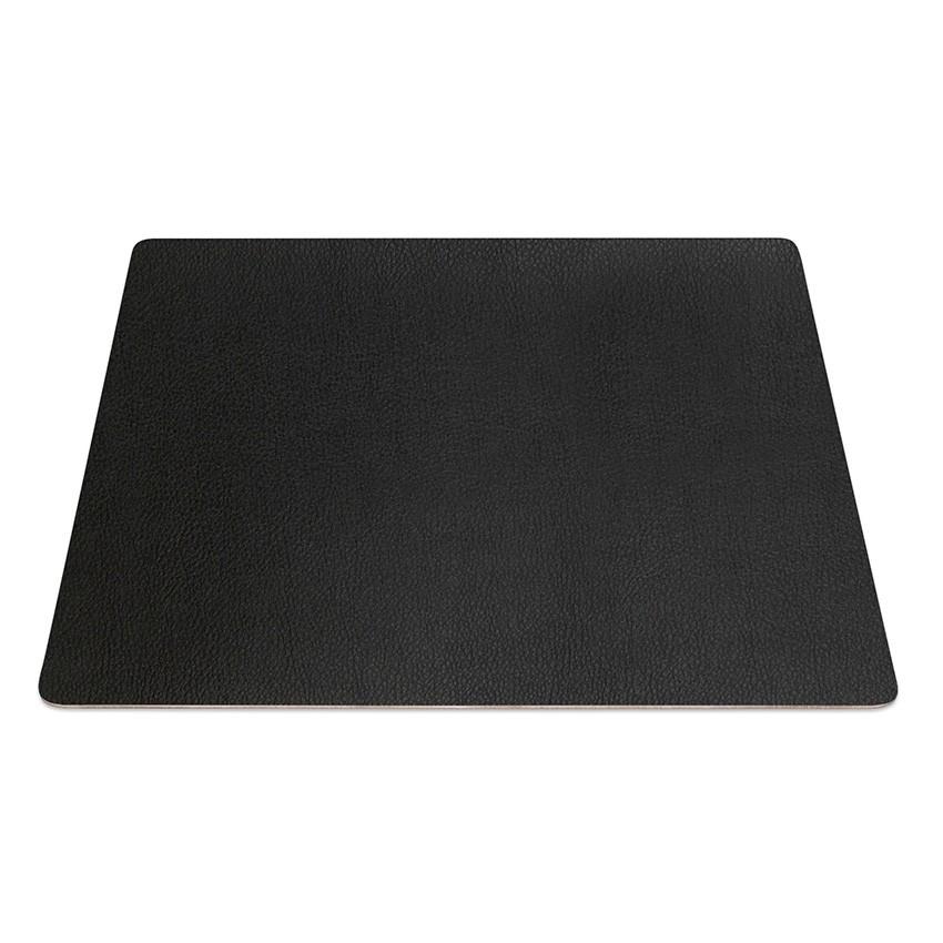 9 Set de table rectangle PVC noir aspect lisse
