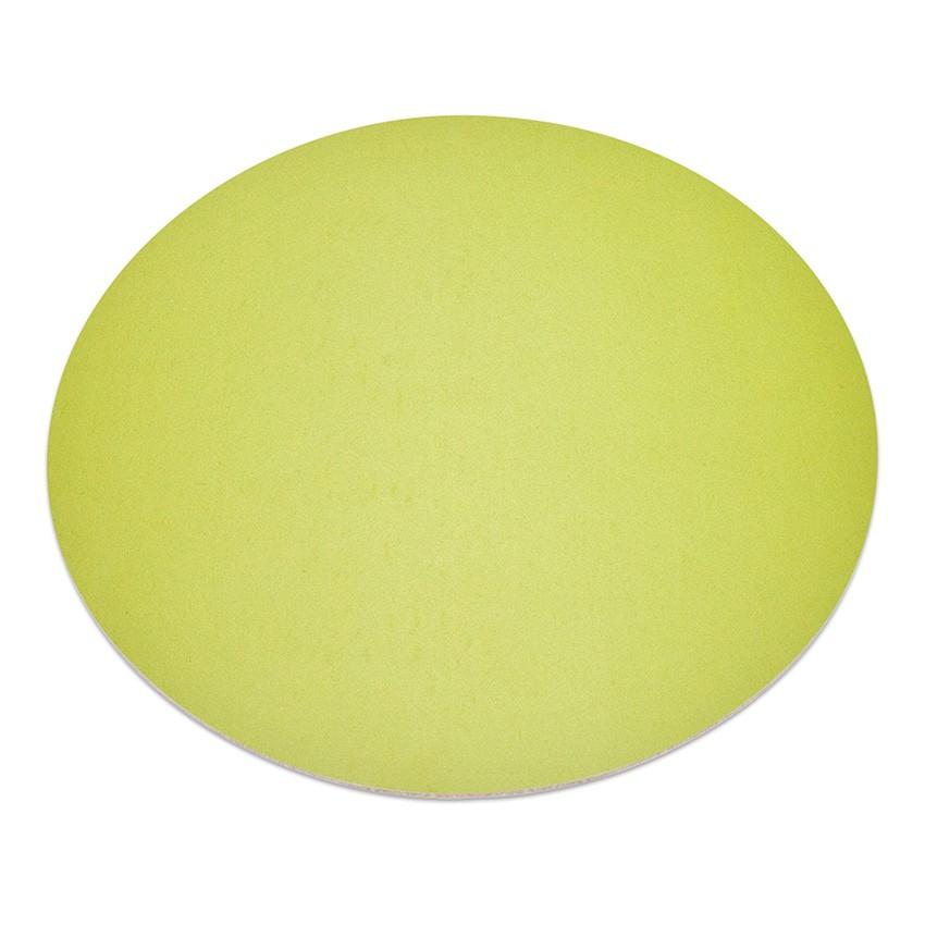 11 sets de table rond Fashion citron vert aspect lisse