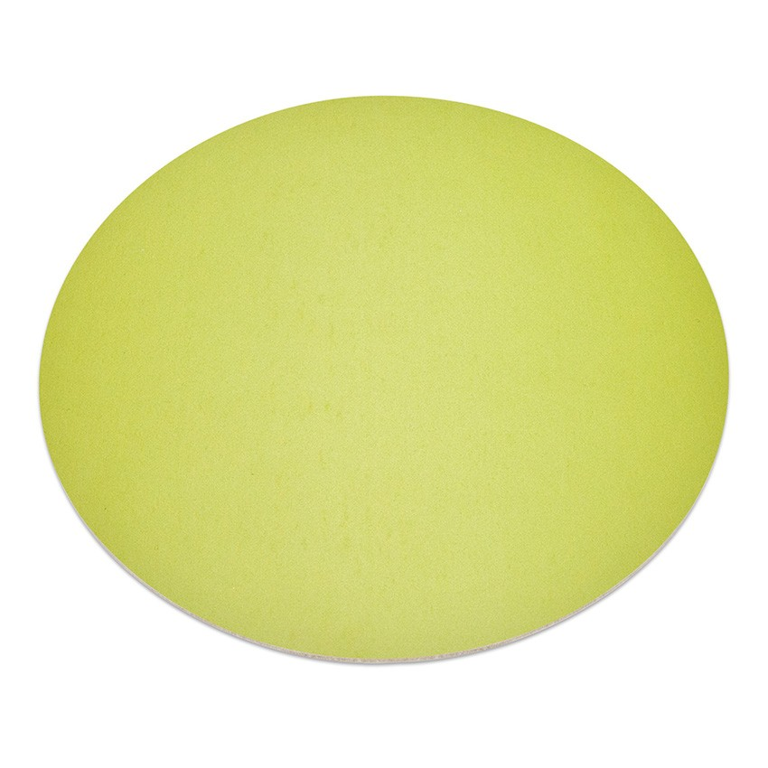 11 sets de table rond Fashion citron vert aspect lisse