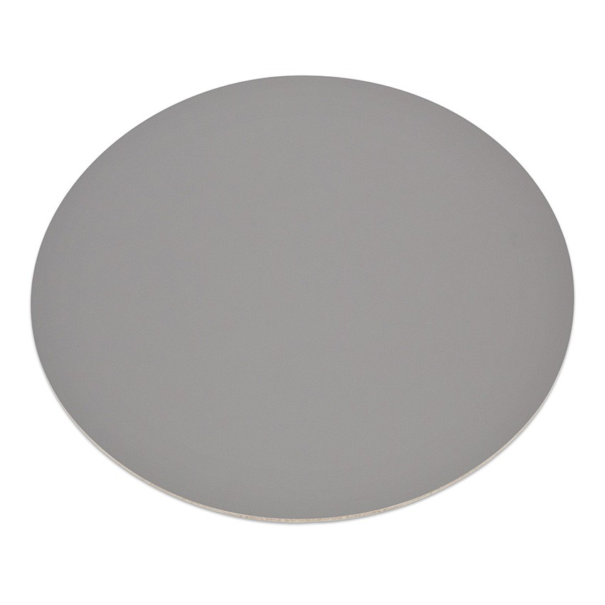 11 sets de table rond Fashion gris aspect lisse